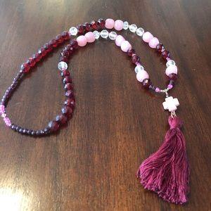 "Jewelry - 26"" Beaded Tassel Necklace"